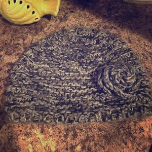 Knit Winter Hat with Flower